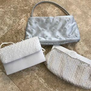 "Handbags - Three Evening/Formal Purses - from 6"" to 9"" Length"
